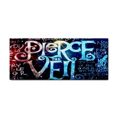 Pierce The Veil Quote Galaxy Nebula Hand Towel by Onesevenart