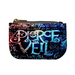Pierce The Veil Quote Galaxy Nebula Mini Coin Purses by Onesevenart