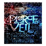 Pierce The Veil Quote Galaxy Nebula Shower Curtain 66  x 72  (Large)