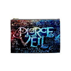 Pierce The Veil Quote Galaxy Nebula Cosmetic Bag (medium)  by Onesevenart