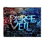 Pierce The Veil Quote Galaxy Nebula Cosmetic Bag (XL)