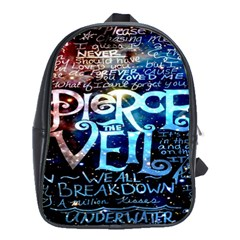 Pierce The Veil Quote Galaxy Nebula School Bags(large)  by Onesevenart