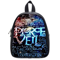 Pierce The Veil Quote Galaxy Nebula School Bags (small)  by Onesevenart