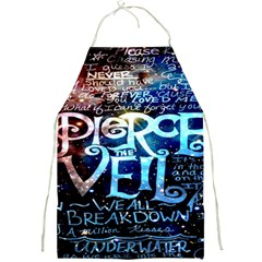 Pierce The Veil Quote Galaxy Nebula Full Print Aprons by Onesevenart