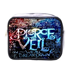 Pierce The Veil Quote Galaxy Nebula Mini Toiletries Bags by Onesevenart