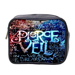 Pierce The Veil Quote Galaxy Nebula Mini Toiletries Bag 2 Side by Onesevenart