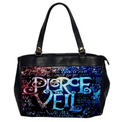 Pierce The Veil Quote Galaxy Nebula Office Handbags by Onesevenart