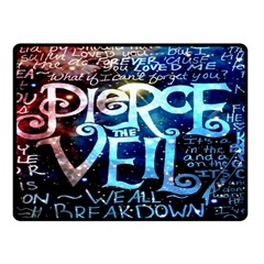 Pierce The Veil Quote Galaxy Nebula Fleece Blanket (small) by Onesevenart
