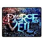 Pierce The Veil Quote Galaxy Nebula Fleece Blanket (Small)