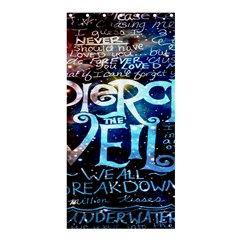 Pierce The Veil Quote Galaxy Nebula Shower Curtain 36  X 72  (stall)  by Onesevenart
