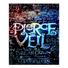 Pierce The Veil Quote Galaxy Nebula Shower Curtain 60  X 72  (medium)  by Onesevenart