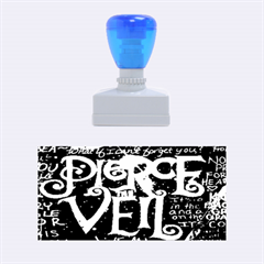 Pierce The Veil Quote Galaxy Nebula Rubber Stamps (medium)  by Onesevenart