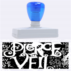 Pierce The Veil Quote Galaxy Nebula Rubber Address Stamps (xl) by Onesevenart