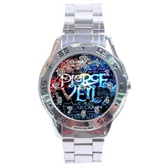 Pierce The Veil Quote Galaxy Nebula Stainless Steel Analogue Watch by Onesevenart