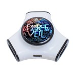 Pierce The Veil Quote Galaxy Nebula 3-Port USB Hub