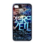 Pierce The Veil Quote Galaxy Nebula Apple iPhone 4 Case (Black)