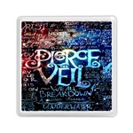 Pierce The Veil Quote Galaxy Nebula Memory Card Reader (Square)