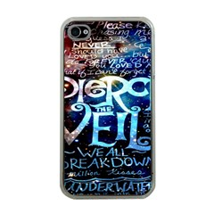Pierce The Veil Quote Galaxy Nebula Apple Iphone 4 Case (clear) by Onesevenart