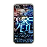 Pierce The Veil Quote Galaxy Nebula Apple iPhone 4 Case (Clear)