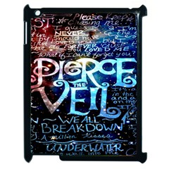 Pierce The Veil Quote Galaxy Nebula Apple Ipad 2 Case (black) by Onesevenart
