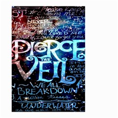 Pierce The Veil Quote Galaxy Nebula Small Garden Flag (two Sides) by Onesevenart