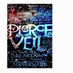 Pierce The Veil Quote Galaxy Nebula Large Garden Flag (two Sides) by Onesevenart