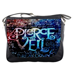 Pierce The Veil Quote Galaxy Nebula Messenger Bags by Onesevenart