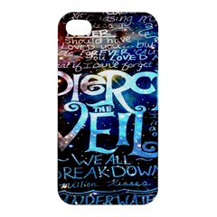 Pierce The Veil Quote Galaxy Nebula Apple Iphone 4/4s Premium Hardshell Case by Onesevenart