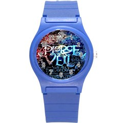 Pierce The Veil Quote Galaxy Nebula Round Plastic Sport Watch (s) by Onesevenart