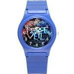 Pierce The Veil Quote Galaxy Nebula Round Plastic Sport Watch (S)
