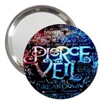 Pierce The Veil Quote Galaxy Nebula 3  Handbag Mirrors