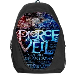 Pierce The Veil Quote Galaxy Nebula Backpack Bag by Onesevenart