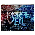 Pierce The Veil Quote Galaxy Nebula Cosmetic Bag (XXXL)