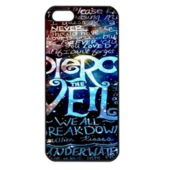 Pierce The Veil Quote Galaxy Nebula Apple Iphone 5 Seamless Case (black) by Onesevenart