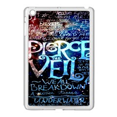 Pierce The Veil Quote Galaxy Nebula Apple Ipad Mini Case (white) by Onesevenart