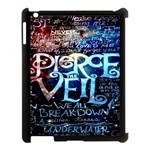 Pierce The Veil Quote Galaxy Nebula Apple iPad 3/4 Case (Black)
