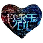 Pierce The Veil Quote Galaxy Nebula Large 19  Premium Heart Shape Cushions
