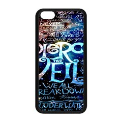 Pierce The Veil Quote Galaxy Nebula Apple Iphone 5c Seamless Case (black) by Onesevenart