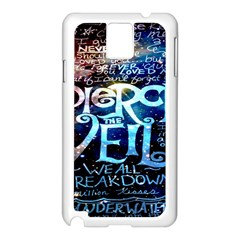 Pierce The Veil Quote Galaxy Nebula Samsung Galaxy Note 3 N9005 Case (white) by Onesevenart