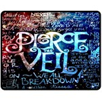 Pierce The Veil Quote Galaxy Nebula Double Sided Fleece Blanket (Medium)