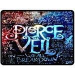 Pierce The Veil Quote Galaxy Nebula Double Sided Fleece Blanket (Large)