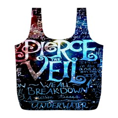 Pierce The Veil Quote Galaxy Nebula Full Print Recycle Bags (l)  by Onesevenart