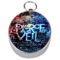 Pierce The Veil Quote Galaxy Nebula Silver Compasses by Onesevenart