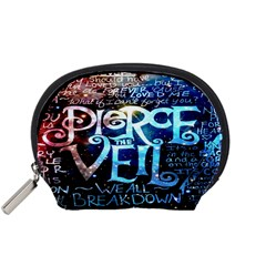 Pierce The Veil Quote Galaxy Nebula Accessory Pouches (small)  by Onesevenart