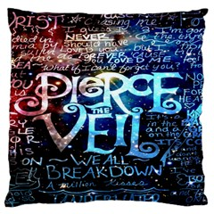 Pierce The Veil Quote Galaxy Nebula Standard Flano Cushion Case (one Side) by Onesevenart