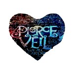 Pierce The Veil Quote Galaxy Nebula Standard 16  Premium Flano Heart Shape Cushions