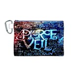 Pierce The Veil Quote Galaxy Nebula Canvas Cosmetic Bag (M)