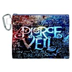 Pierce The Veil Quote Galaxy Nebula Canvas Cosmetic Bag (XXL)