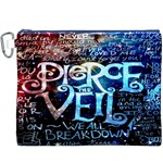 Pierce The Veil Quote Galaxy Nebula Canvas Cosmetic Bag (XXXL)