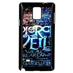 Pierce The Veil Quote Galaxy Nebula Samsung Galaxy Note 4 Case (Black)